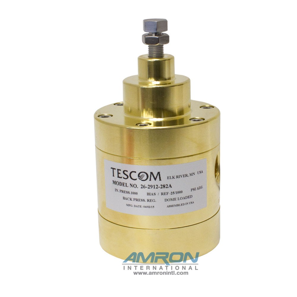 Tescom Back Pressure Regulator 0-30 PSIG - Brass 26-2912-282A