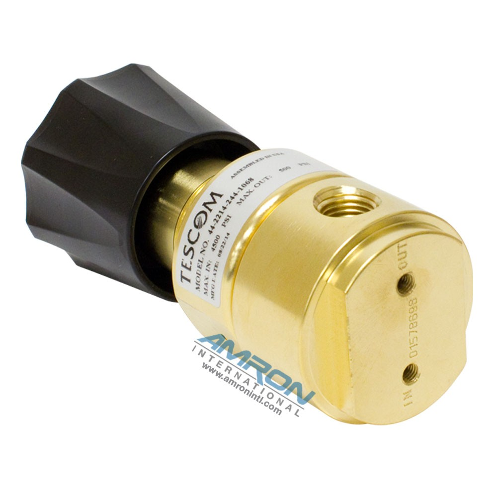 TESCOM Pressure Reducing Regulator Brass 0-500 PSIG 44-2214-244-1068