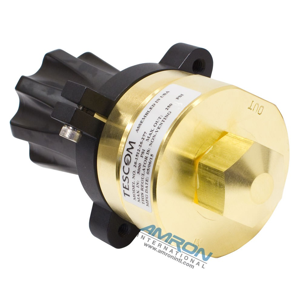 Tescom Pressure Reducing Regulator 0-250 PSIG - Brass 26-1512-26-277