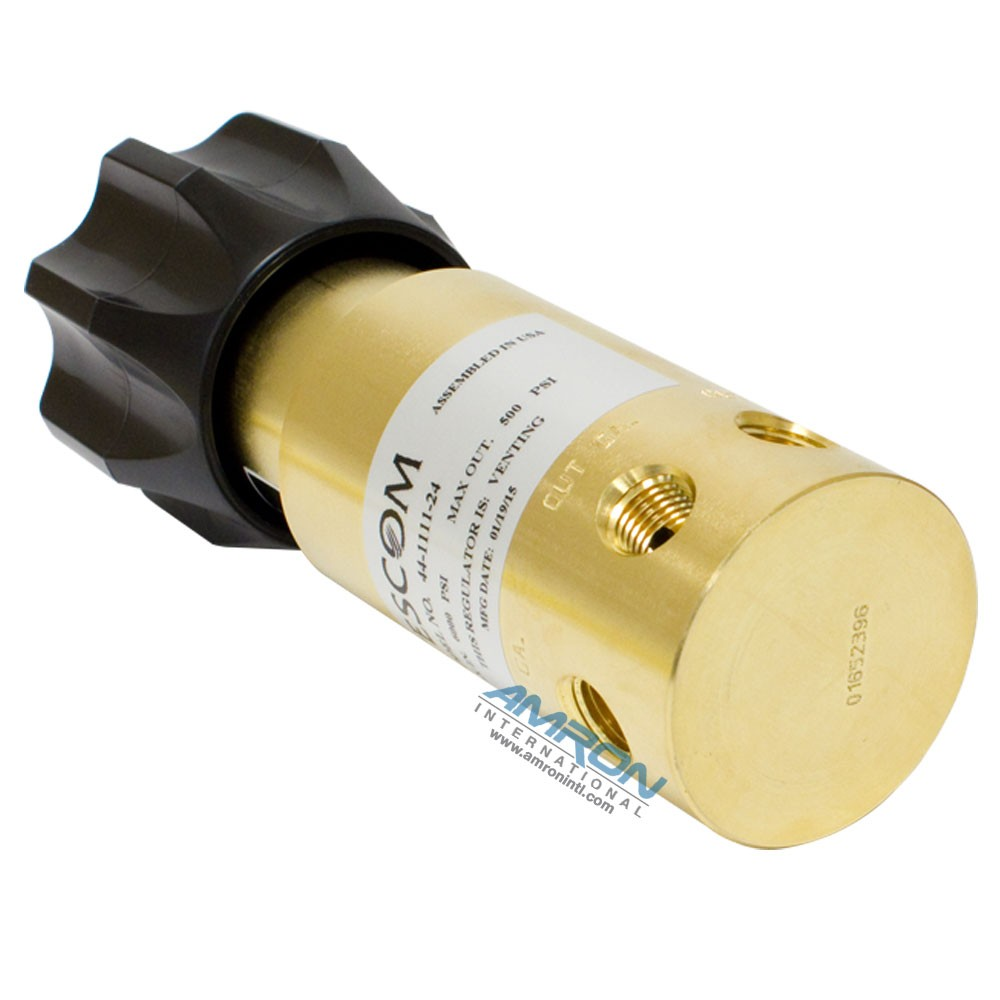 Tescom Pressure Reducing Regulator 0-500 PSIG - Brass 44-1111-24