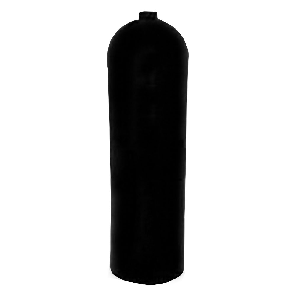 AL100 Aluminum SCUBA Cylinder with No Valve - Black AL100BK-NV