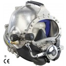 Kirby Morgan 37SS Stainless Steel Commercial Diving Helmet with Male Waterproof Connectors 500-101