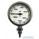 XS Scuba 2 in. Brass and Glass Pressure Gauge HL301