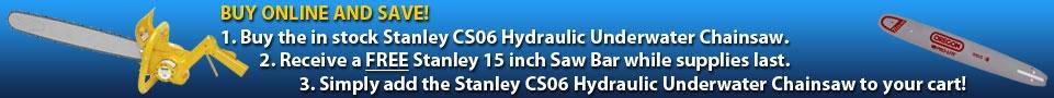Stanley Tools CS06 Hydraulic Underwater Chainsaw Promo