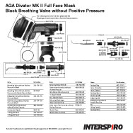 Interspiro AGA Divator MK II Black Breathing Valve with Demand Regulator Parts Breakout