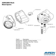 Amron International 350M BIBS Mask Spares Breakout