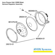 Avox Pressur-Vak II BIBS Mask Demand Regulator Assembly