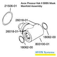 Avox Pressur-Vak II BIBS Mask Manifold Assembly