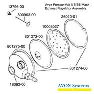 Avox Pressur-Vak II BIBS Mask Exhaust Regulator Assembly