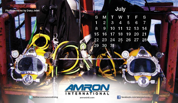 2012 Amron International Diving Calendar