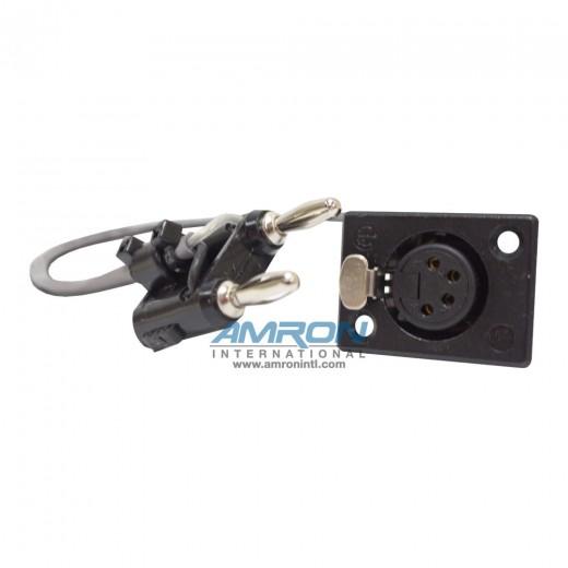 Headset 4-Pin Neutrik X Black Banana Plug