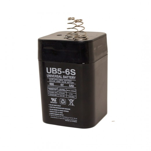 2890-04 6VDC Rechargeable Spring Top Gel-Cell Battery