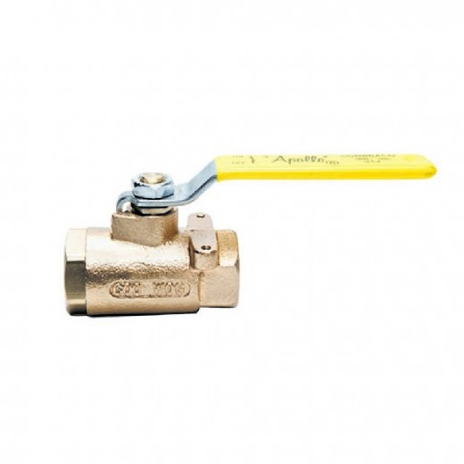 71-145-10 - 71 Series Ball Valve - 1 in. Female NPT - Stainless Steel Ball  Stem Lever and Nut