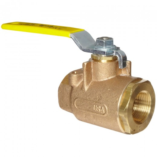 77-101-01 - 77 Series Ball Valve - Brass - 1/4 in - Standard Lever and Nut