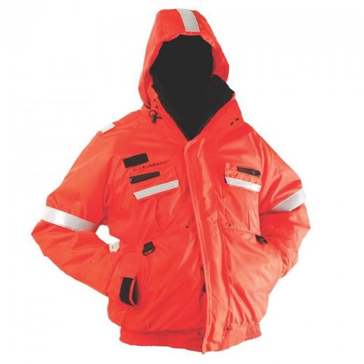 Powerboat Flotation Jacket Bomber Style - Orange