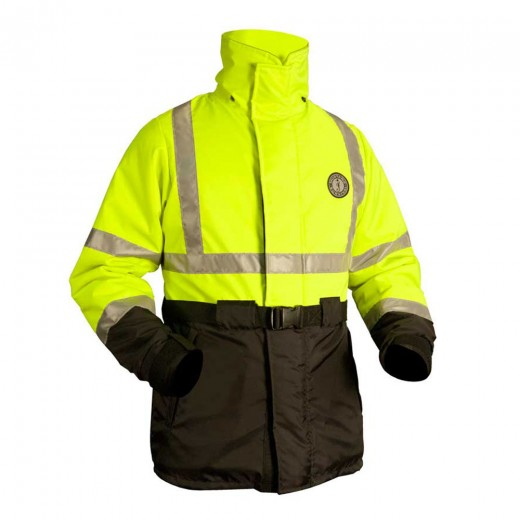 ANSI High Visibility Flotation Coat - Fluorescent Yellow-Green/Black