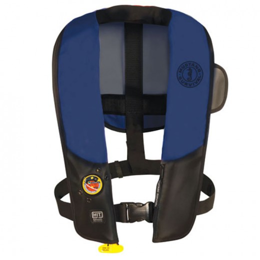 Inflatable PFD with HIT (Auto Hydrostatic) with Customizable Back Flap for Law Enforcement - Navy/Black - Adult Universal