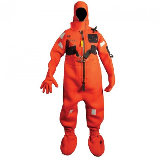 Neoprene Cold Water Immersion Suit with Harness - Red