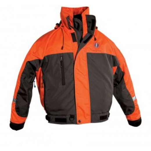 Integrity Deluxe Flotation Bomber Jacket - Orange/Carbon