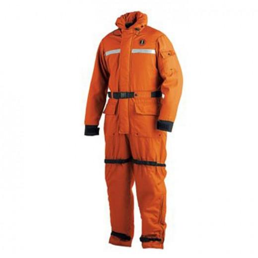 Flame Resistant Anti-Exposure Coverall & Worksuit - Orange - Medium