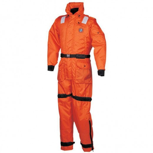 Deluxe Anti-Exposure Coverall Work Suit - Orange