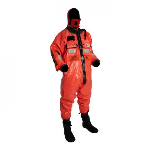 Ocean Commander Immersion Suit with Harness - Orange - Adult Universal