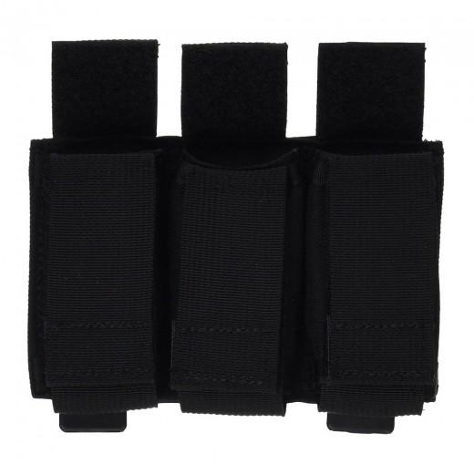 Triple Pistol Mag Pouch Black