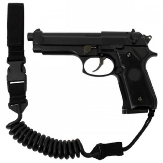 QR Pistol Lanyard Black
