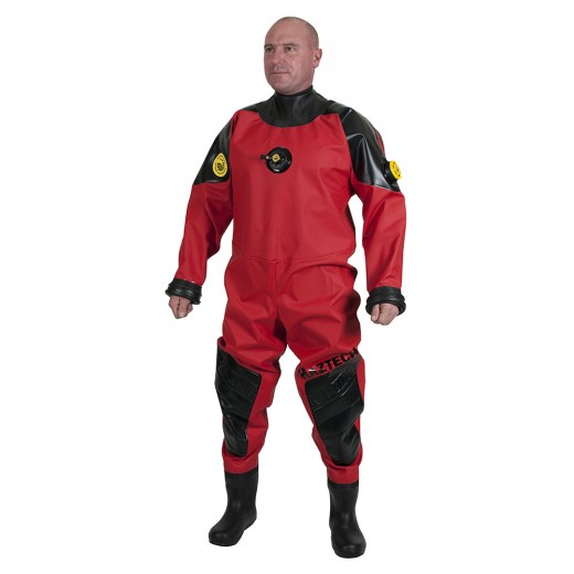 Haztech Red/Black Thermoplastic Polyurethane Drysuit with Latex Neck Seal