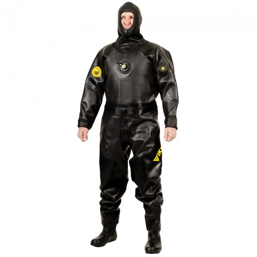 Protech 1250 g/m2 Vulcanized Rubber Drysuit with Surveyor Hood