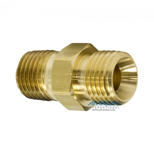 AF-1028 Adapter - 9/16-18 RH to 1/4 in. MNPT Brass