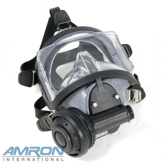 Divator MK II Full Face Mask with Positive Pressure Regulator - Natural Rubber - Grey