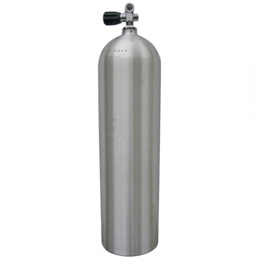 AL100 Aluminum SCUBA Cylinder with Pro Valve - Brushed No Coat