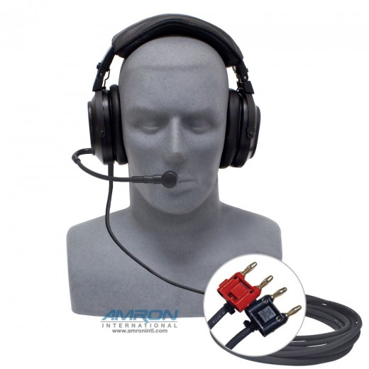 2401-28 Deluxe Headset with Boom Mic and Dual Banana Plugs