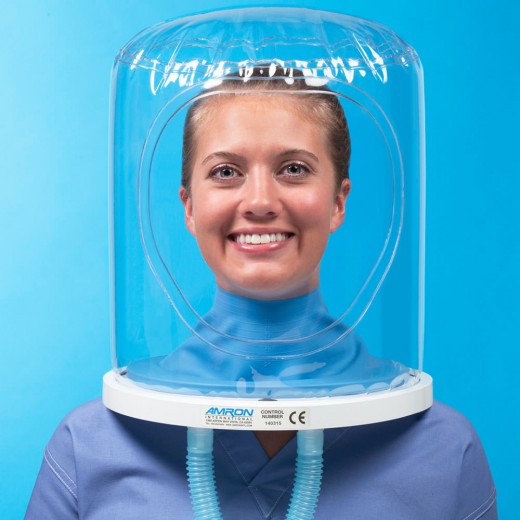 8891-01 Oxygen Treatment Hood Assembly with Trimmed Latex Neck Seal, Neck Ring with O-ring, and Multipurpose Plug