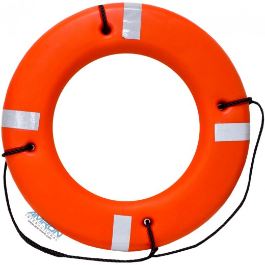 4220-00-275-3156 24 Inch Hard Shell Ring Buoy - Orange