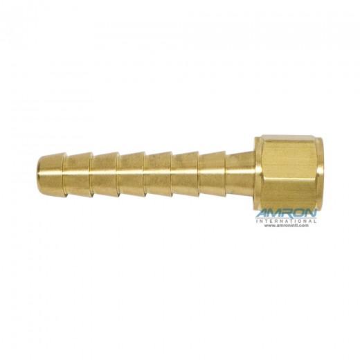 AHB-60202 3/8 Inch x 9/16-18 Oxygen Thread Hose Barb