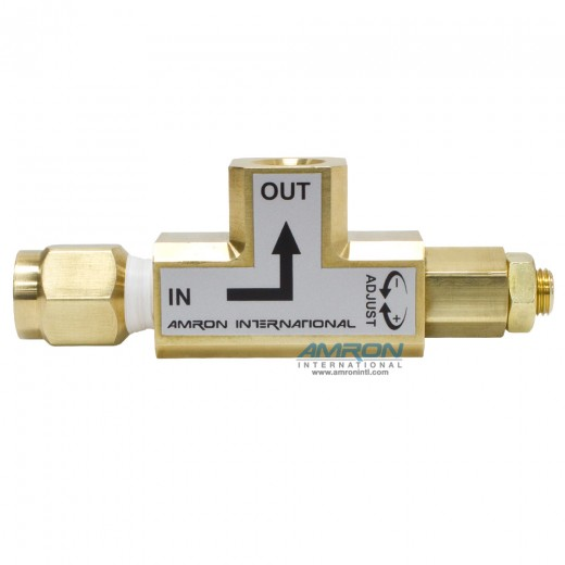 Angled Pressure Limiting Valve - 10-150 PSI - Set at 100 psi