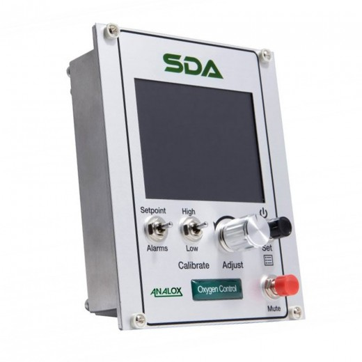 SDAPBDNYA SDA Monitor and Carbon Dioxide (CO2) Module, Panel Mount, Configured for CO2 0-2% with Datalogging