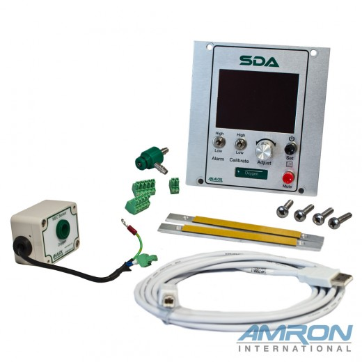 SDAPAAXXA SDA Monitor and Oxygen (O2) Module Panel Mount Configured for O2 0-100%
