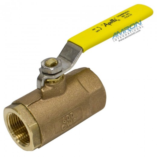 70-144-10 - 70 Series Ball Valve - 3/4 in. Female NPT - Bronze with Stainless Steel Ball Stem Lever and Nut