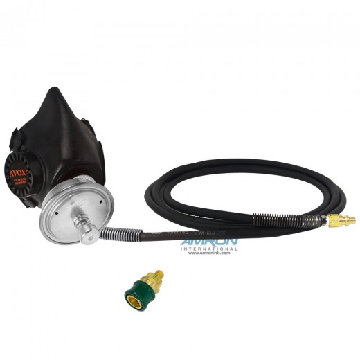 803600-02 Series 803600 Single Hose Inhalator without 1st Stage Regulator Assembly without Microphone Assembly
