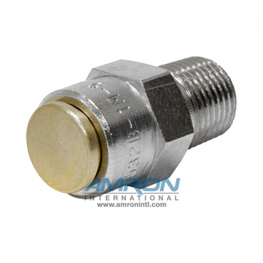 520-0001-01 Relief Valve 1/8 inch Male MNPT - 5 PSI Cracking Pressure - Nickel Plated Brass