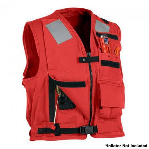 U.S. Navy MK1 Inflatable Vest - Red