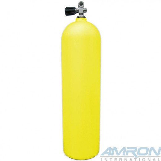 Aluminum Dive Tank - Yellow with K-Valve - 80 cu. ft.