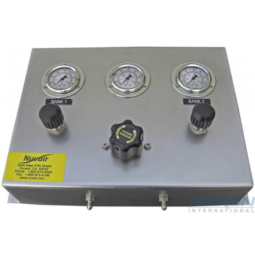 NUV-PN-2BA High Pressure Air Fill Panel - 2 Bank - HP-HP Regulator