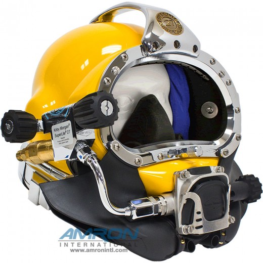 500-041-455 SuperLite® 27 Commercial Diving Helmet with 455 Regulator and Male Waterproof Connector
