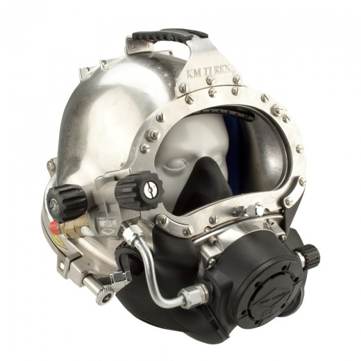 77 500-091 Commercial Diving Helmet with Male Waterproof Connector