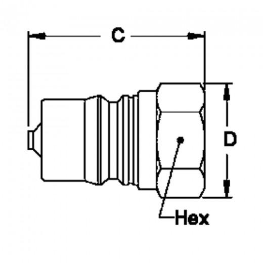 LL3-K21 - 3-HK 3/8 in. FNPT Plug in Stainless Steel (303)