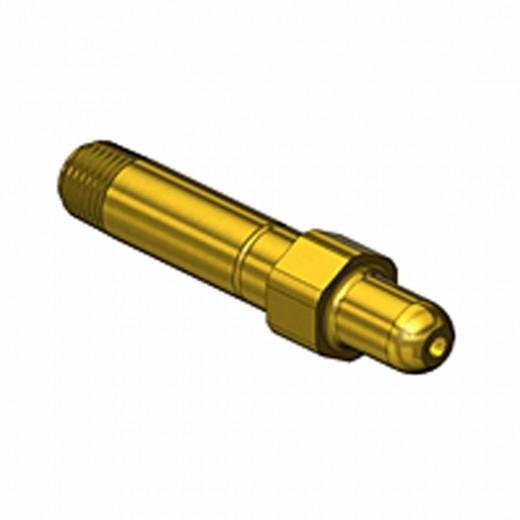 GF-3122 CGA Nipple 1/4 NPT 3 inch long - Brass